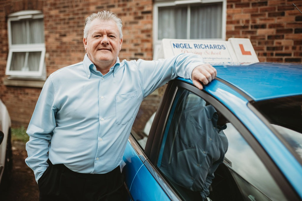 Driving Lessons in Wrexham with Karl Livingstone of Nigel Richards Driving School.