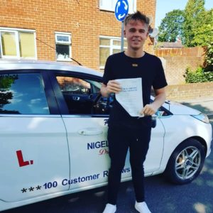 Dan Townley from Mold passed his driving test after taking driving lessons in Wrexham with NIgel Richards Driving School