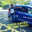 A recent driving test pass in Wrexham for Chloe Davies with Nigel Richards Driving School